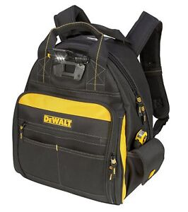 Image is loading Dewalt-DGL523-Lighted-Tool-Backpack-Bag-57-Pockets- d008adc4fc79