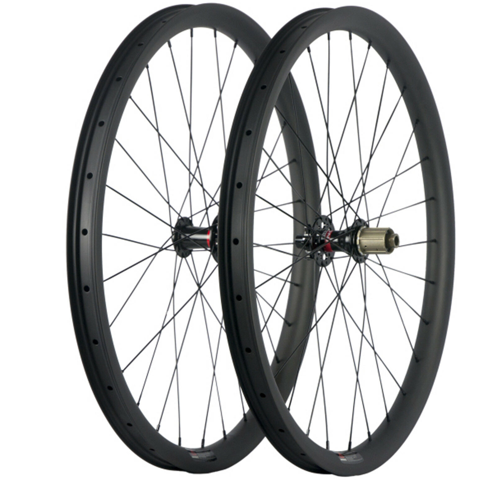 700C MTB Wheelset  27.5ER 35mm Width Carbon Mountain Bike Wheels Thru Axle 6 Bolt  the lowest price