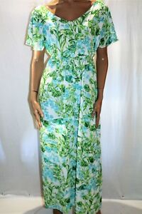 Curvaceous-Brand-Green-Floral-Chiffon-Maxi-Dress-PLUS-Size-S-BNWT-TO26
