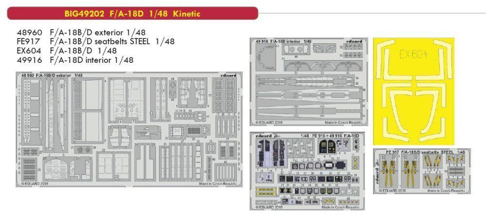Eduard big ed 49202 1   48 mcdonnell douglas f   a-18d hornet kinetische