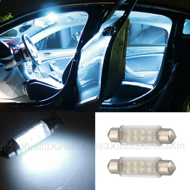 2pcs White Car Led Light Festoon Dome Lights Reading Light
