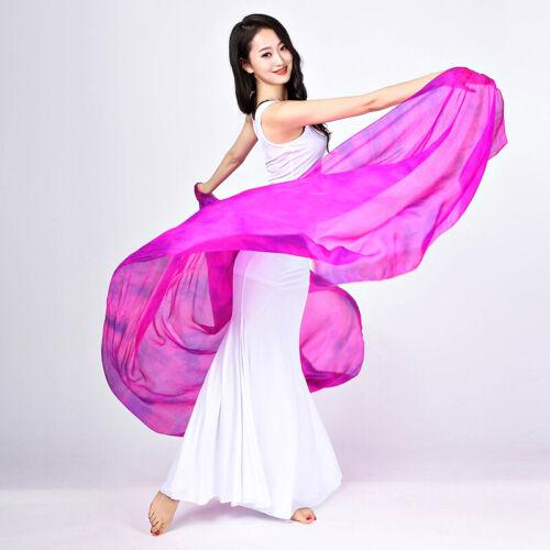 Women Belly Dance Costume Cloud Print Long Pattern Silk Veils Shawl Sacrf Props
