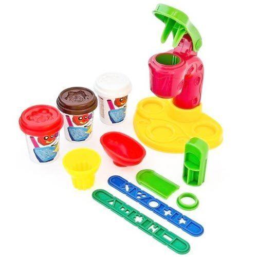Play Set Crea Gelato Con Plastilina 3 Vasetti Formine Bambini Giochi Ice Cream