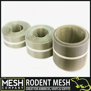 Stainless Steel Rodent Mesh (16 LPI x 0.4mm Wire = 1mm Hole) Easy To Cut