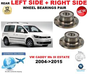 Für VW Caddy Hinterradlager Paar 2004-   2015 Mk III Kombi Links & Rechts