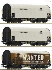 Roco-76054-HO-Gauge-Captrain-Shimmns-Plane-Wagon-Set-3-VI