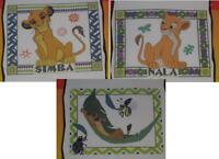 Disney Lion King Cross Stitch Kit Lot Simba Portrait & Nala Portrait & Timon