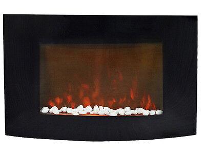 "1500W XL Large 35""x22"" Adjustable Heat Electric Wall Mount Fireplace W/ Remote"