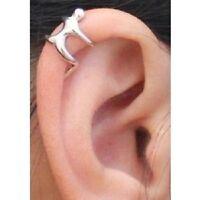 Silver Climbing Man Naked Climber Ear Cuff Helix Cartilage Earring