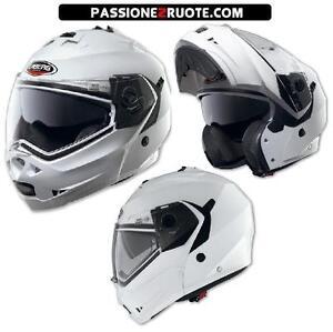 Casco-modular-Flip-Up-moto-helmet-capacete-casque-helm-Caberg-Duke-White