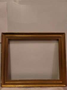 ANTIQUE-FITS-14-X-11-034-GOLD-GILT-PICTURE-FRAME-WOOD-GESSO-FINE-ART