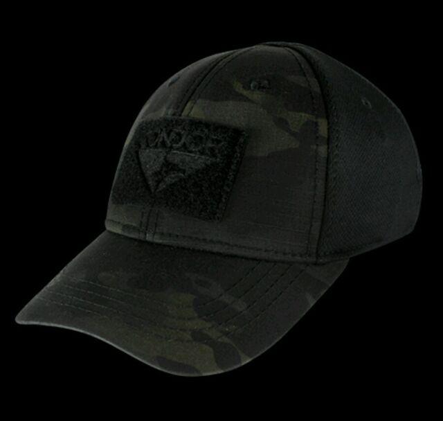 041eb8a8f2e10 Condor Black Multicam Flexfit Flex Tactical Operator cap hat Special Forces  S M