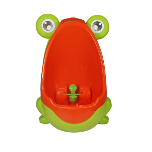 Baby Potty Boy Training Urinal Lime Green Frog Fun Toddler Toilet Trainer