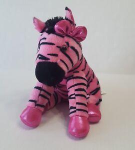 Pink Zebra Stuffed Animal Plush Aurora Girlz Nation Ebay