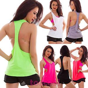 Top-mujer-camiseta-de-tirantes-sueter-espalda-abierta-deporte-remero-nueva-148