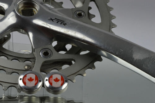dust caps with Canada flag fit shimano XTR fc-m900 fc-m901 ritchey crankset