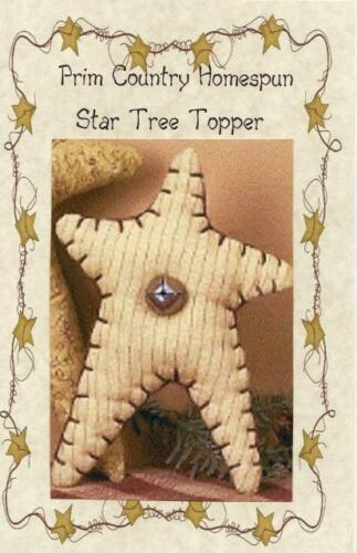 Details about  /PRIM COUNTRY STAR TREE TOPPER w Bell for smaller TREES PATTERN ONLY