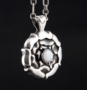 GEORG-JENSEN-Sterling-Silver-Pendant-Of-The-Month-October-Opal-238-VERY-RARE