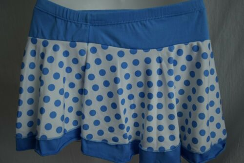 Blue or Red Polka Dot 3 Piece Swimsuit NWT Sizes M L XL XXL Top Skirt Bottom