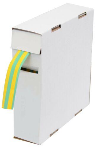 D = 2,4mm//d = 1,2 mm 15 m Vert Jaune en pratique Donneur Box Schrumpfschlauch 2:1
