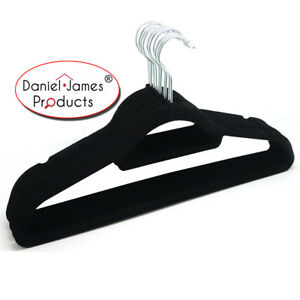 Velvet Hangers Coat Clothes Non Slip Flocked Curved Trousers Dresses Slim Velour