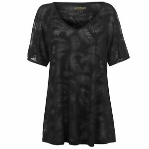 Golddigga-Womens-Beach-Cover-Up-T-Shirt-Crew-Neck-Tee-Top-Short-Sleeve