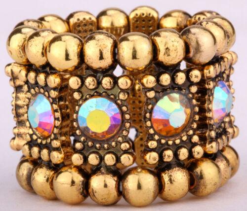 Stretch Band Anneaux Bling bijoux cadeaux or argent A1 assorties Bracelets AVBL