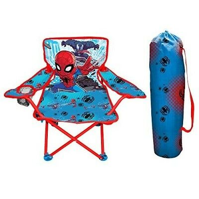 Spiderman Kids Folding Chair W Carry Bag Campng Beach