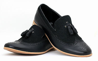 Mens Smart Dress SlipOn Tassel Loafers Casual Office Shoes Size 6 7 8 9 10 11 12