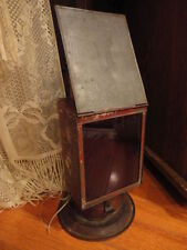 Dark Room Photographic Lantern Ruby Glass Protective Door Oil Lamp Antique