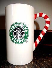 2009 STARBUCKS Snowflake Mermaid Candy Cane Handle Tall Mug 12 oz~Free Shipping!