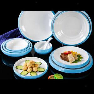 8-10/'/' Plastic Melamine Serving Dishes Cake Plates Kitchen Restaurant Tableware