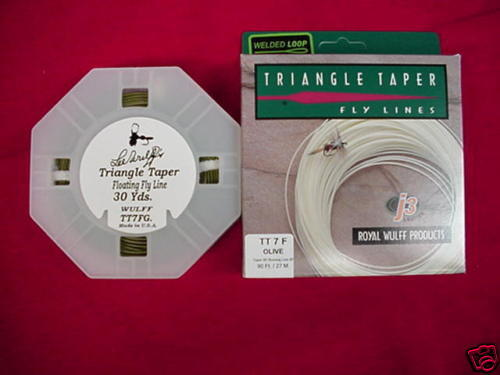 Royal Wulff Triangle Taper Fly Line Olive GREAT NEW