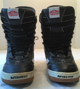 6df11ffbde VANS HI-STANDARD SNOWBOARD BOOTS BLACK AND WHITE SIZE 6 - JUST IN ...