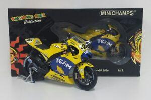 MINICHAMPS-VALENTINO-ROSSI-1-12-MODELLO-YAMAHA-M1-2006-GP-FRANCIA-LEMANS-MOTOGP