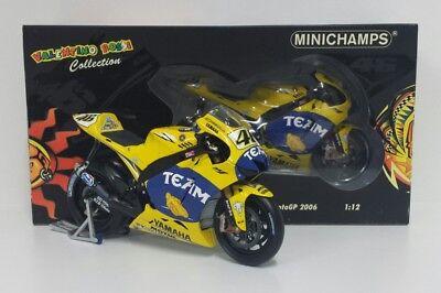 Sistematico Minichamps Valentino Rossi 1/12 Modello Motogp Yamaha M1 2006 Gp Francia Le Mans Prezzo Di Vendita