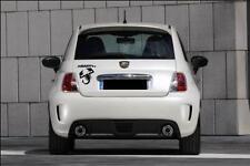 adesivo abarth stickers tuning scorpione auto fiat 500 tutti i colori