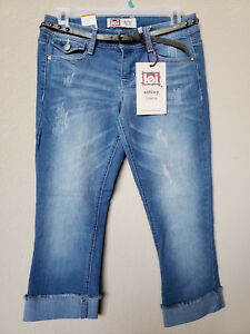 NWT-L-E-I-JUNIOR-039-S-CROPPED-JEAN-with-BELT-ASHLEY-LOWRISE-REGULAR
