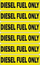 6x Adesivi adesivo sticker moto auto diesel fuel only carburante benzina gasolio