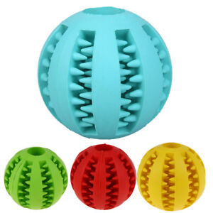 Rubber-Ball-Dental-Treat-Cleaning-Chew-Dispensing-Pet-Dog-Puppy-Cat-Toy-Training