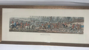 Henry-Alken-MEETING-AT-COVER-1824-Framed-Etching-Prints-Aquatinted
