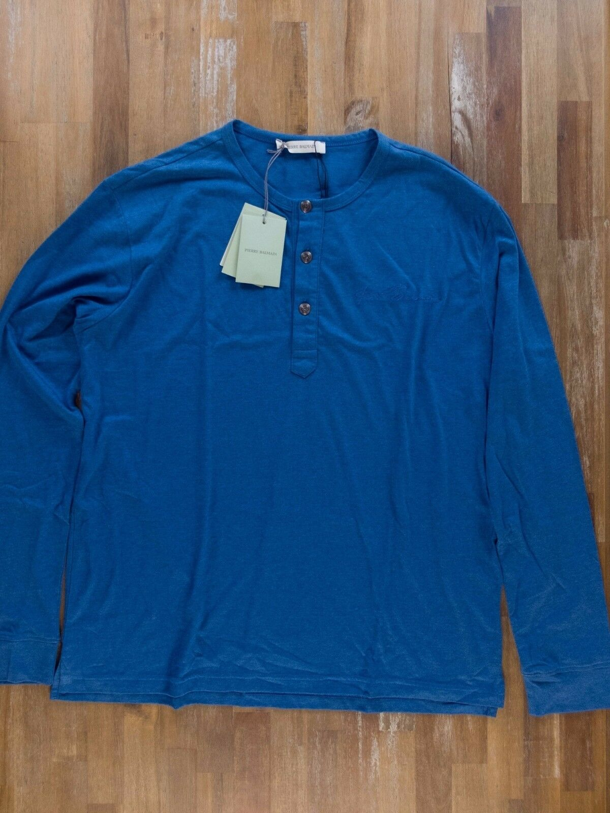 PIERRE BALMAIN bluee long-sleeve t-shirt authentic - Size 52 EU   XL - NWT