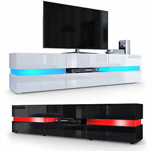 Image Is Loading High Gloss Modern Tv Stand Unit Media Entertainment