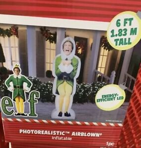 Buddy-the-Elf-6-039-PhotoRealistic-Inflatable-Airblown-Holiday-Christmas-Yard-Decor