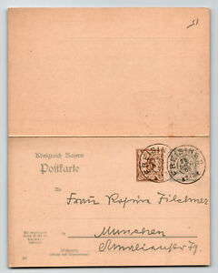 Bavaria-1906-Duplex-Reply-Card-Entire-FREISING-CDS-Z13544