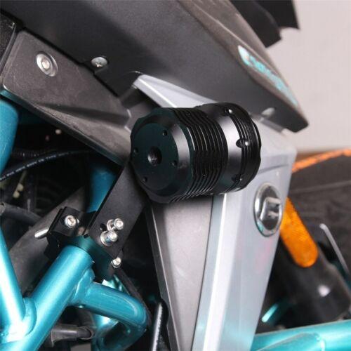 2 pcs en Alliage d/'Aluminium Angle réglable moto DEL Phare Tube Fourche Support