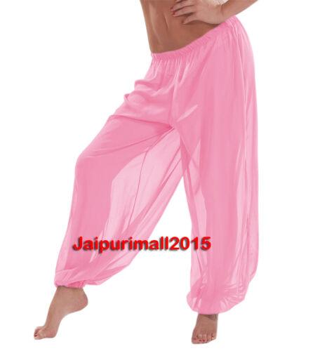 Pink Chiffon Harem Yoga Pant Genie Aladdin Gypsy Belly Dance Pantaloon Trouser