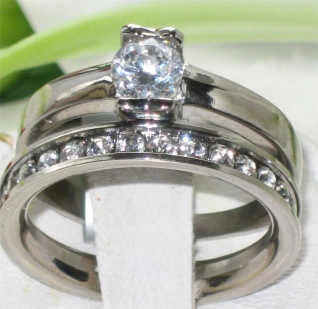 WOMENS  1.15CT SOLITAIRE ENGAGEMENT RING SIMULATED DIAMONDS STR428 WEDDING SET