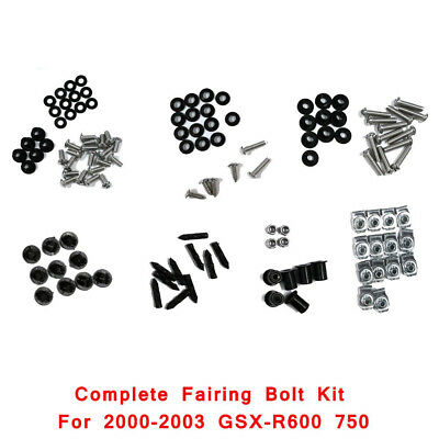 Fairing Bolt Kit Body Bolts Washers Stainless For 2002-2003 Suzuki GSX-R 600 750
