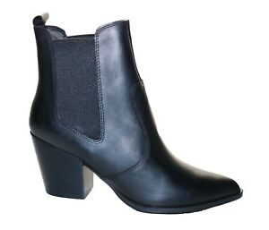 Patricia Black Leather Ankle Boots